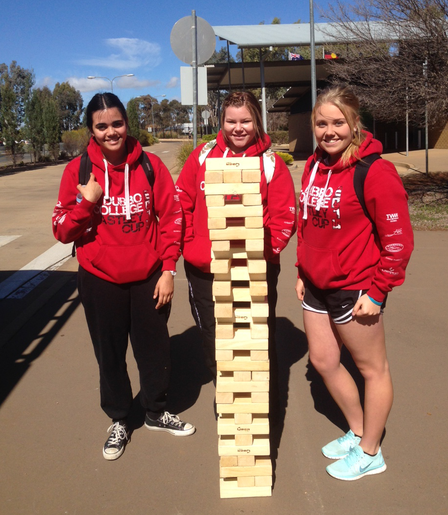 Giant jenga at Dubbo College.