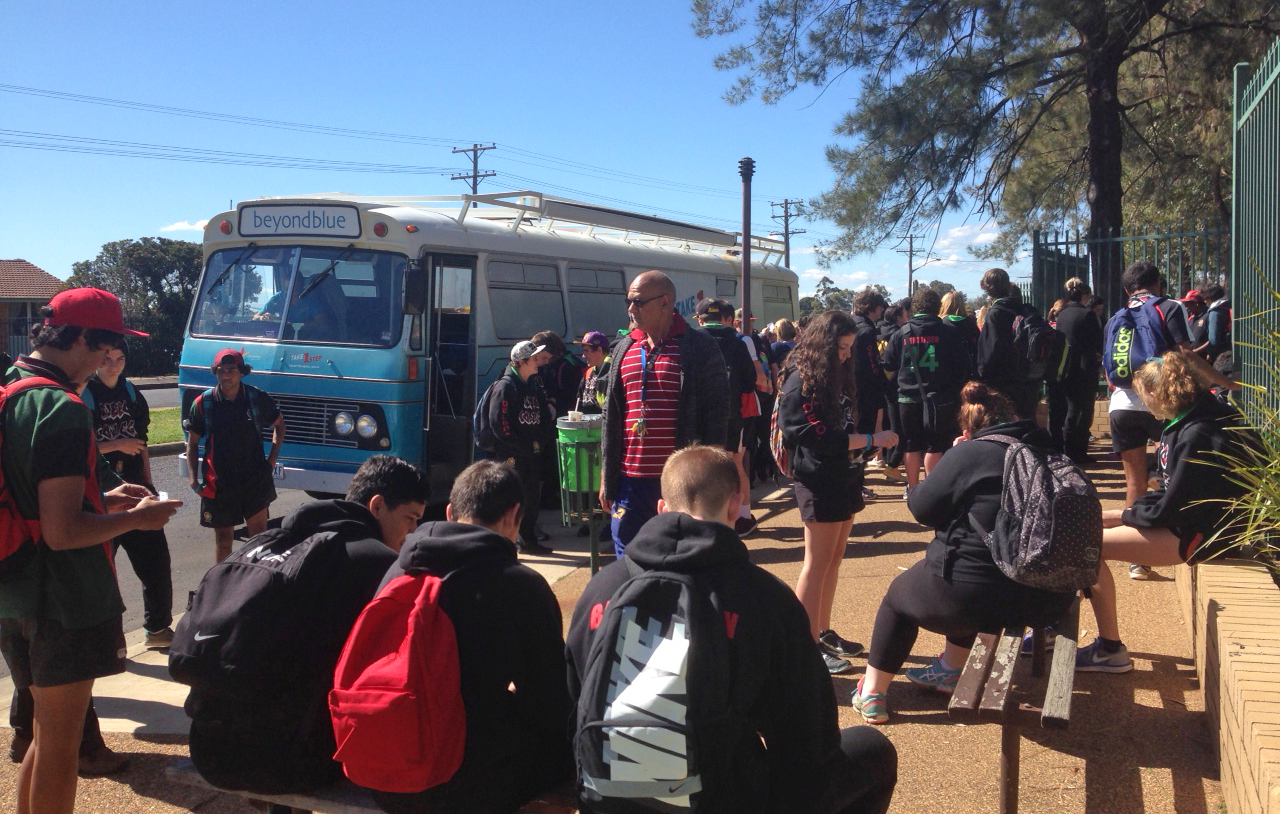 The bus visited Dubbo College.