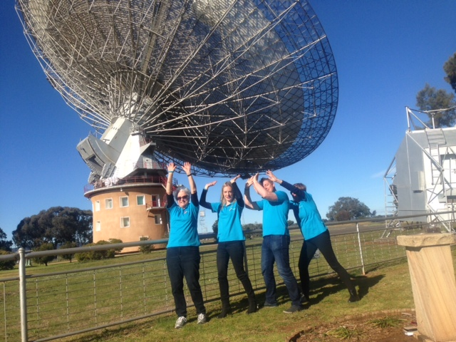 The team gets creative at The Dish in Parkes.