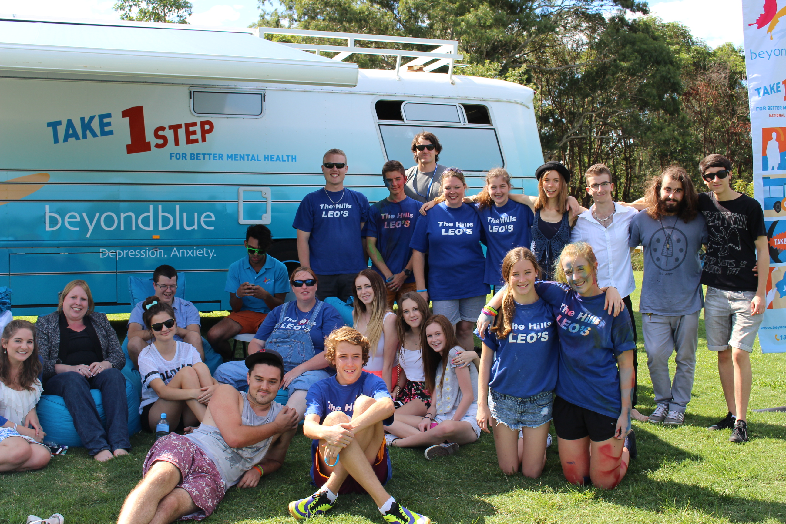 The Hills Leo Club members in Baulkham Hills.