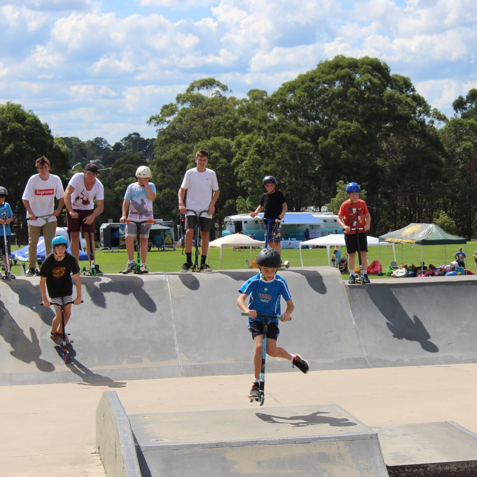 Skaters in Baulkham Hills.