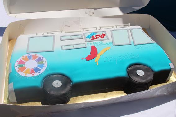 Our big blue bus in edible form, thanks to Bridges Health & Community Care Bundaberg.
