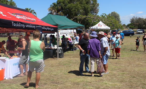 At the free community festival in Bundaberg to mark the first day of Mental Health Week.