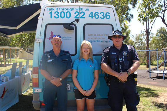 Emergency services dropped by the Monto Driver Reviver rest stop on the Burnett Highway.
