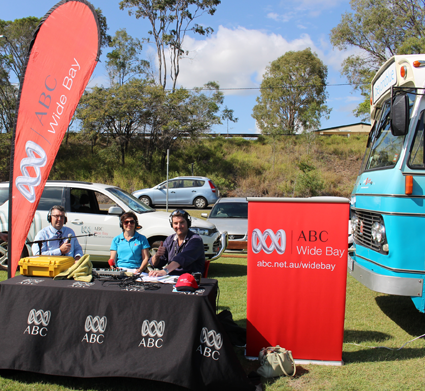 ABC Wide Bay did a special broadcast from Seafront Oval.