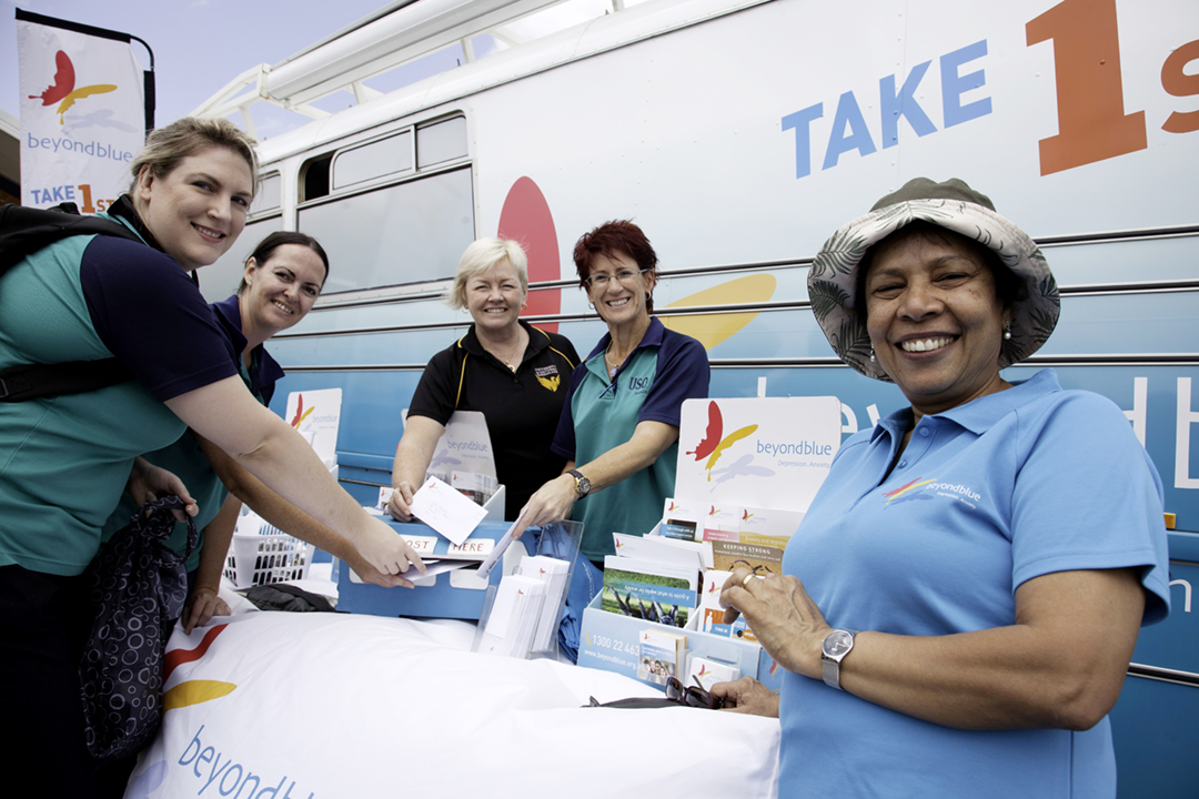 Making mental health pledges at the University of Southern Queensland Fraser Coast campus, Hervey Bay.