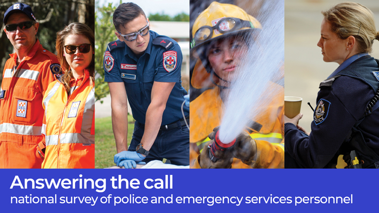 ... Answering the call - national survey of police and emergency services  personnel