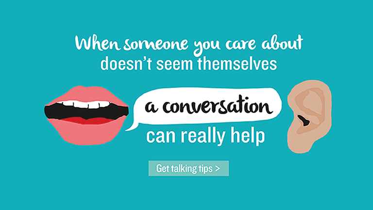A conversation can really help