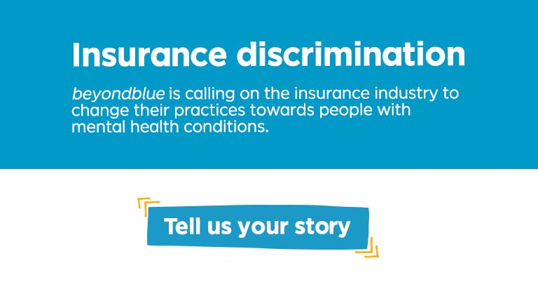 Insurance discrimination - share your story